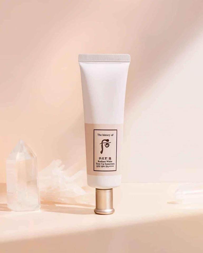 Set kem chống nắng dưỡng trắng da Whoo Radiant White Tone Up Sunscreen