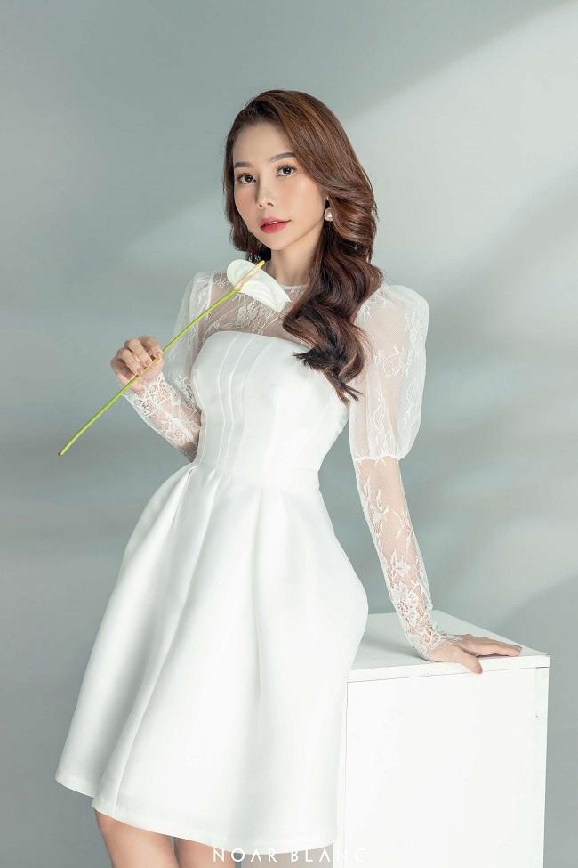 Miri Lace Puff Sleeve & Minora Princess Dress