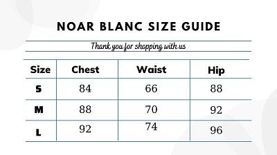 Bảng size Noar Blanc